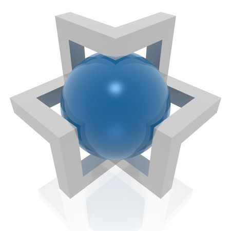 abstract 3d symbol Stock Photo - 5972637