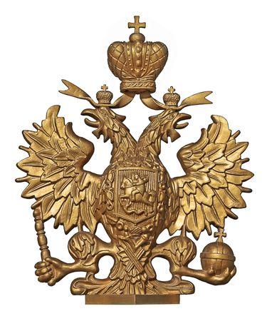aguila real: Antiguo Escudo de Rusia (�guila bic�fala)  Foto de archivo