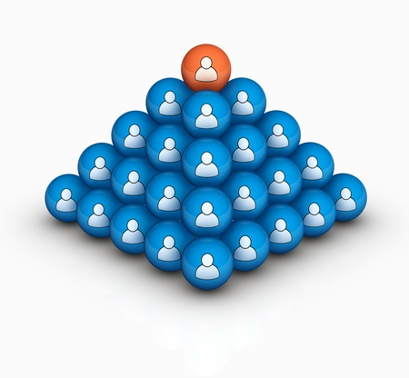social human pyramid Stock Photo - 12450438