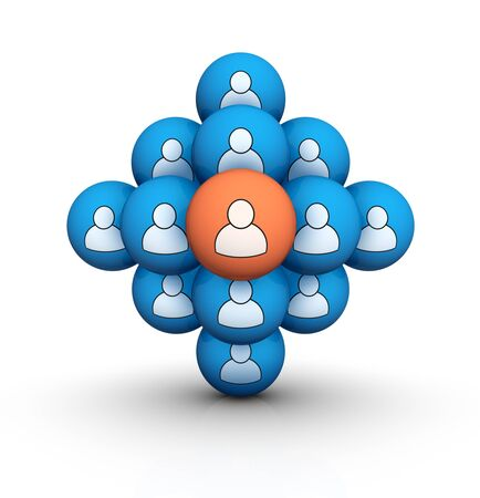 group of people 3d symbol Stock Photo - 12450437