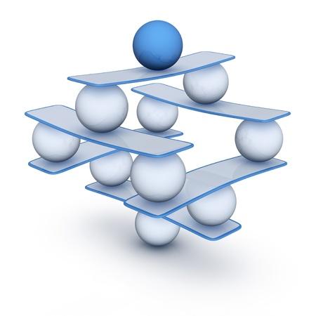 Perfect balance  abstract harmony symbol