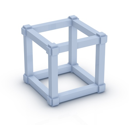 The Escher Cube  Impossbile object, optical illusion
