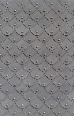 metal armor fish scale with rivets seamless background Stock Photo - 27299520