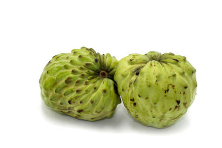 Fresh Sugar Apple or Australia Custard apple with isolated on white background. Foto de archivo