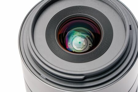 Macro close up of a photo lens