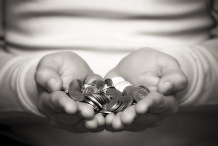 A person who gives money Stock Photo - 9832578