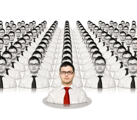 특별한 지도자에 대한 비즈니스 개념