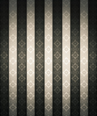 stripes: Seamless floral wallpaper with dark edges