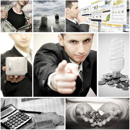 Collage of different business photos Stock Photo - 11204638