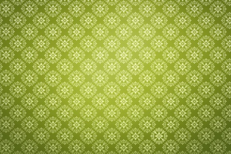 Repeating wallpaper on green background