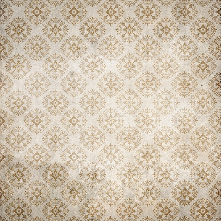 filagree: Old rusted flourish repetitive wallpaper Stock Photo