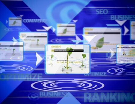 rankings: Conceptual business background about internet rankings Stock Photo