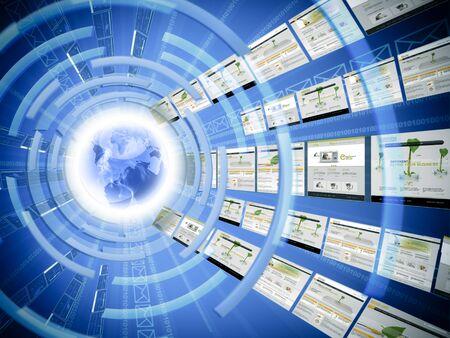 인터넷의 개념은 전 세계적으로 사용되는 스톡 콘텐츠