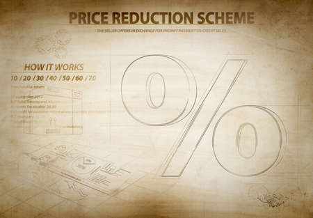 Illustration of a discount sign scheme illustration
