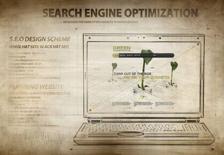 content page: Sketch of Search engine optimization scheme-NOTE All texts,elements,photos are created by me You can see some of the photos used in my galery