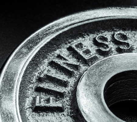 Iron text of the word fitness Stock Photo