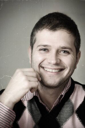 Vintage portret of a young man smiling Stock Photo - 13639086