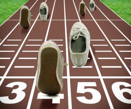 스포츠 경쟁 게임을위한 추상적 인 구성