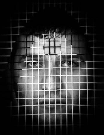 imprisoned: Concept of people imprisoned by their own emotions