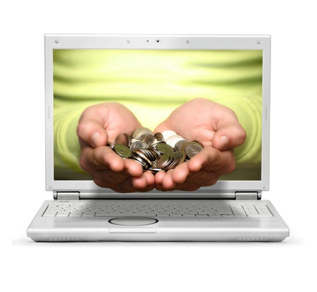 Concept image about winnings online Stock Photo - 14981644