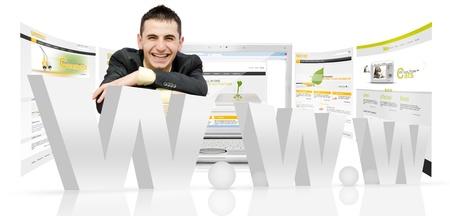 웹 디자인 concept.Internet 기술 스톡 콘텐츠