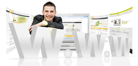 website window: Web design concept.Internet technology