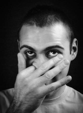 childishness: Man who picks his nose