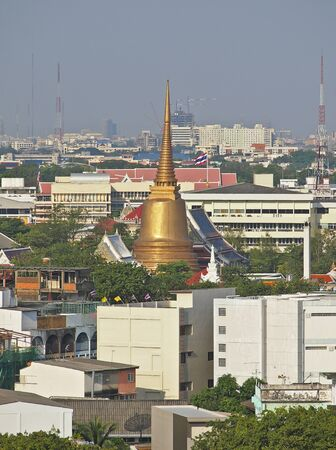 grand golden pagoa at center of Bangkok city