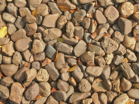 some part of gravel floor in garden