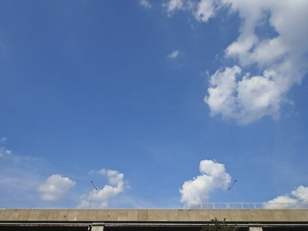 view of expressway and sky in sunny day from low angle