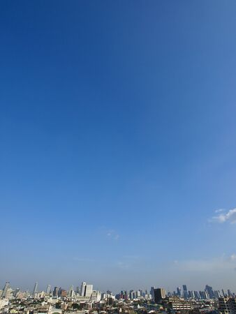skyline of Bangkok city in sunny day photo