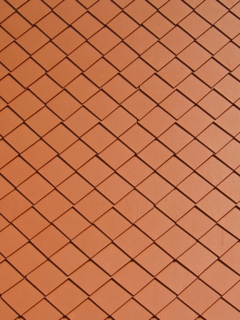 pattern of square tile roof of thai temple photo