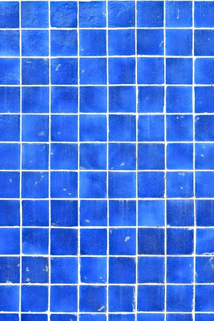 square pattern of blue tile for home decorate