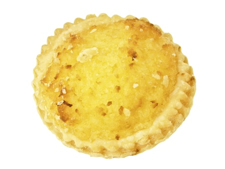 piece of coconut pie on white background
