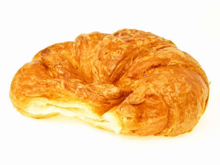delicious variety sweet croissant on white background