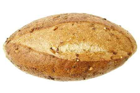 deciduous big kraftkorn bread on white background