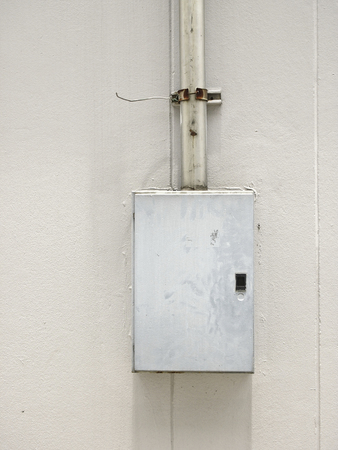 voltage gray: Installation of load center cabinet in electrical system at external building