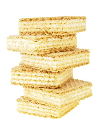 wafer: tower stack wafer isolated on white background Stock Photo