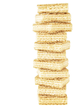 high tower stack wafer isolated on white background photo