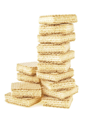 disordered high stack wafer as bar graph on white background photo
