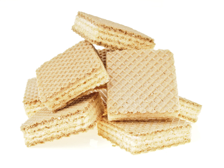 wafer: big heap of wafer pile on white