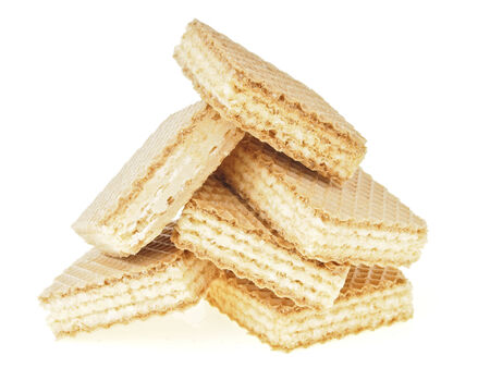 wafer: big pile of wafer in triangle shape on white