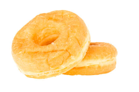 isolation of dual delicious donut on white background photo