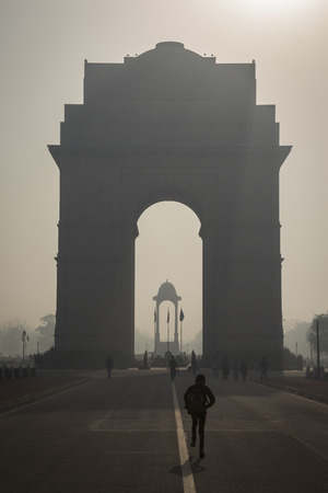 india gate: scene of india gate in rajpath, india gate is war memorial of first world war