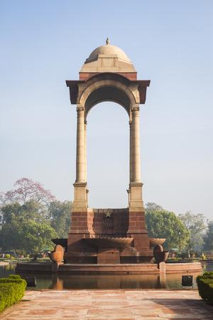 india gate: architecture of canopy at India Gate, Rajpath, New Delhi, India