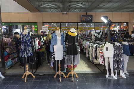lido: BANGKOK THAILAND - APR 10 : street clothes shop in front of Lido Multiplex of Siam Square on april, 10, 2016, thailand. siam square is famous shopping place of Bangkok