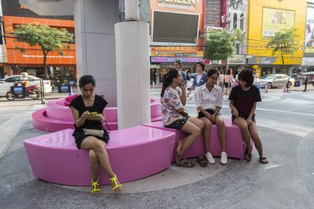 a place of life: BANGKOK THAILAND - APR 10 : life of people near Digital Gateway at siam square on april, 10, 2016, thailand. siam square is famous shopping place of Bangkok Editorial