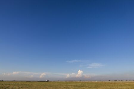 suvarnabhumi: scene of blue sky and field outside suvarnabhumi airport, bangkok, Thailand