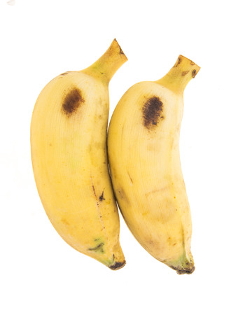 array of two Pisang Awak banana on white background