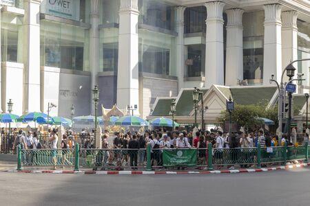phrom: BANGKOK THAILAND - DEC 31 : scene of  Erawan shrine corner in off traffic while new year festival on december, 31, 2016, thailand. Erawan shrine is famous place in Ratchaprasong area Editorial